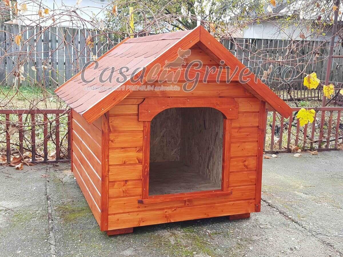Cusca de caine din lemn, izolata termic, model BAXTER, marime S